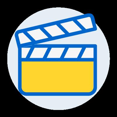 illustration of clapperboard