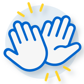 illustration of two hands giving high five