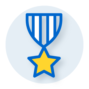 illustration of a medal with a star badge