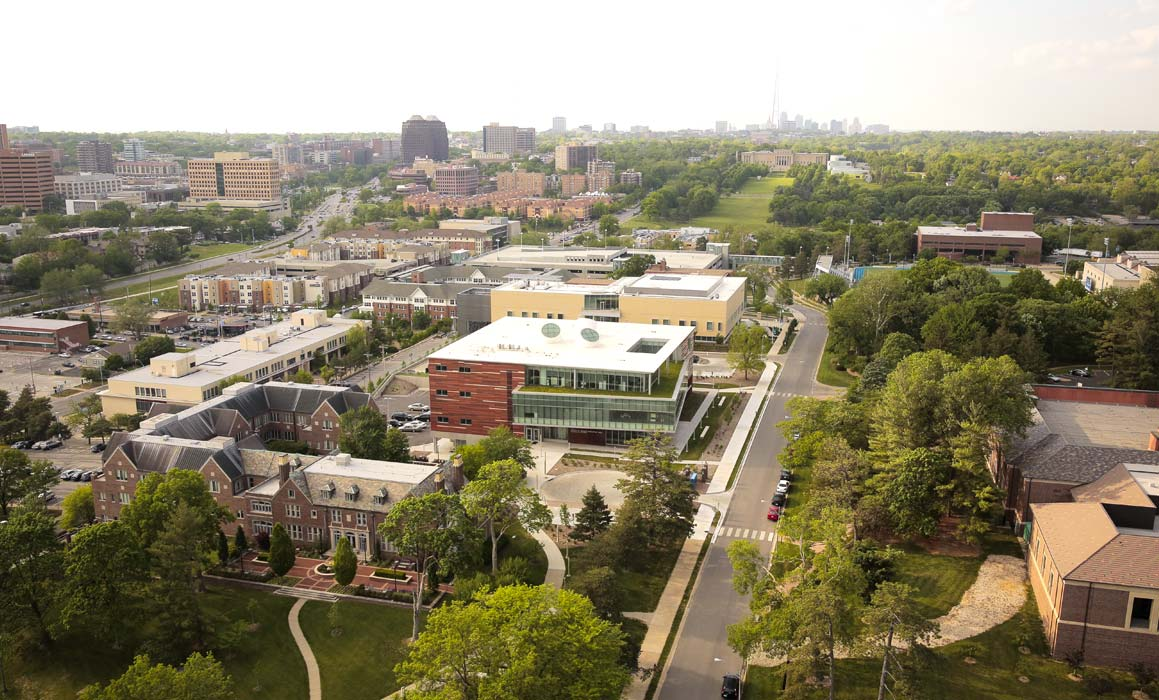 Picture of UMKC campus from above