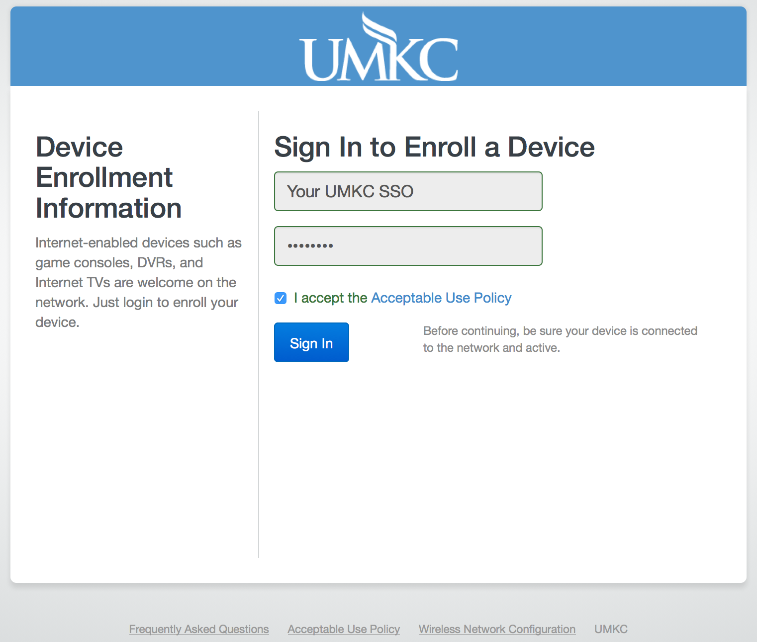UMKC-Media wireless network for gaming and media devices