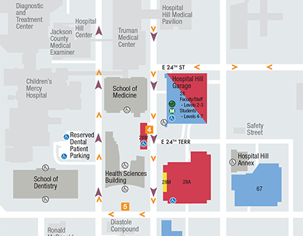 hospital hill campus map