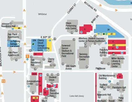 Map Umkc Campus Arig Dynip Se