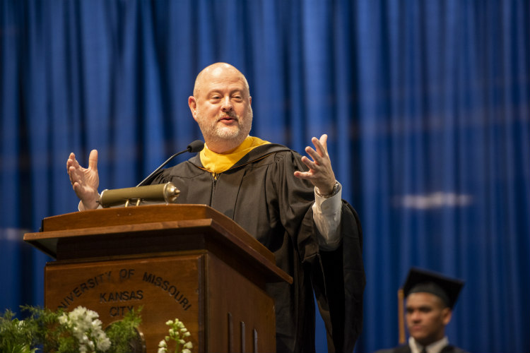 Bloch alumnus Mike Plunkett offers advice to the class of 2019.
