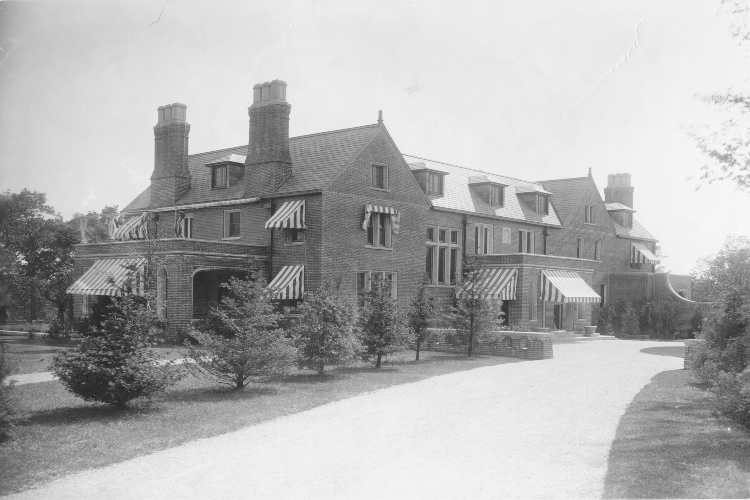 Historical photo of the Shields Residence in the 1920s